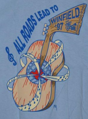 """""""All Roads Lead To Winfield, '97"""" T-Shirt Back"""