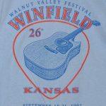 """26th Walnut Valley Festival, Winfield, Kansas, September 18-21, 1997"" T-Shirt Front"