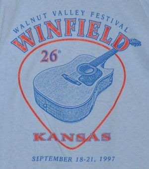 """26th Walnut Valley Festival, Winfield, Kansas, September 18-21, 1997"" T-Shirt Front"