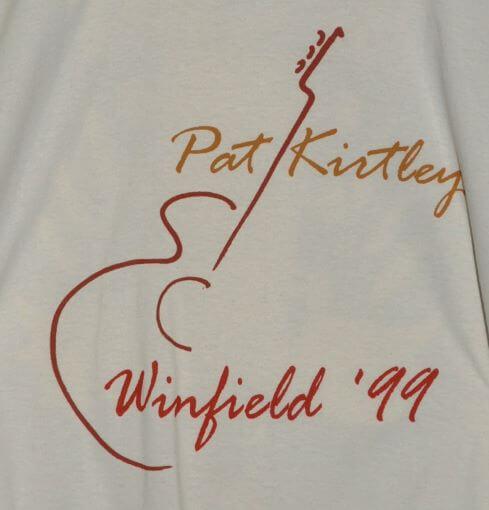 """Pat Kirtley, Winfield '99"" Tshirt Front"