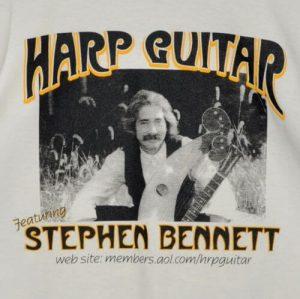 """Harp Guitar, Featuring Stephen Bennett"" Tshirt Front"