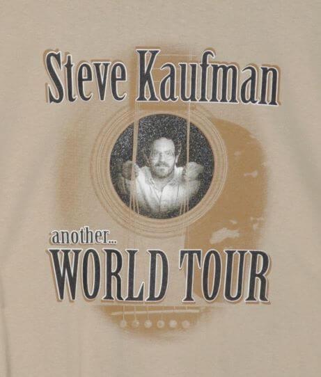 """Steve Kaufman, another...World Tour"" Tshirt Front"