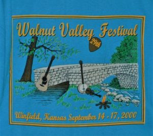 """29th Walnut Valley Festival, Winfield, Kansas, September 14-17, 2000"" Tshirt Back"
