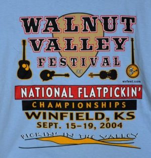Official 2004 Walnut Valley Festival Worker T-Shirt