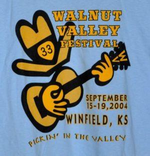 Official 2004 Walnut Valley Festival Worker T-Shirt