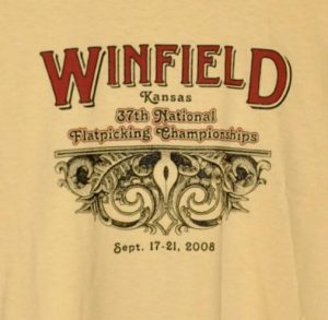 Official 2008 Walnut Valley Festival Worker T-Shirt