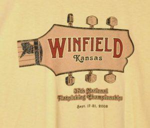 Official 2008 Walnut Valley Festival Worker T-Shirt
