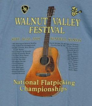 Official 2009 Walnut Valley Festival Worker T-Shirt