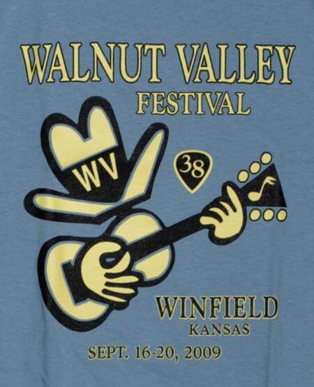 Official 2009 Walnut Valley Festival Worker T-Shirt