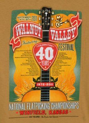 Official 2011 Walnut Valley Festival Worker T-Shirt