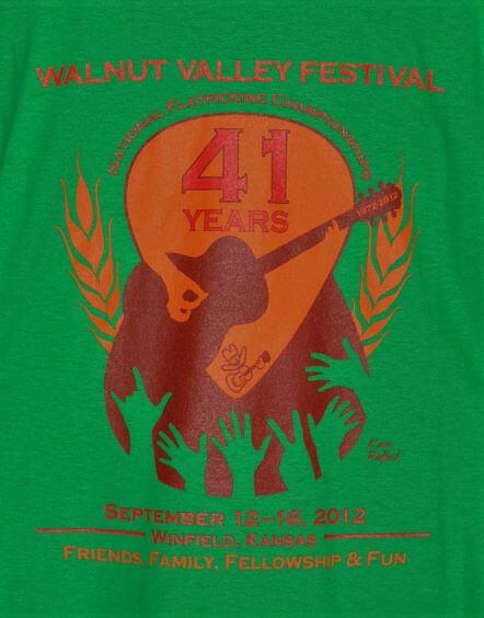 Official 2012 Walnut Valley Festival Worker T-Shirt