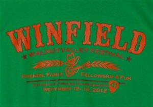 Official 2012 Walnut Valley Festival Worker T-Shirt
