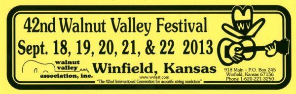 42nd Walnut Valley Festival (2013)