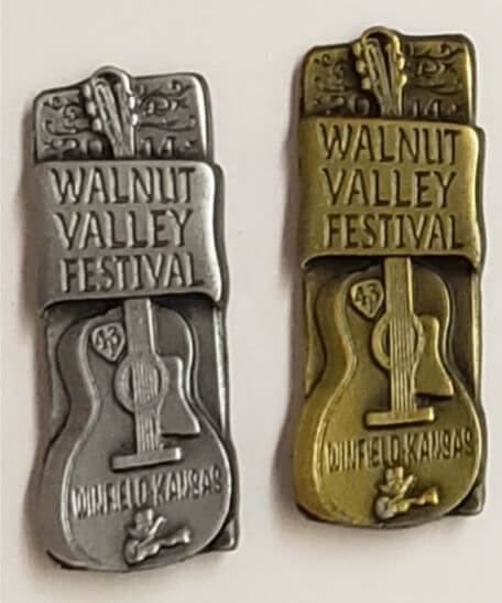 "2014 Hat Pin ""Walnut Valley Festival, Winfield, Kansas"""
