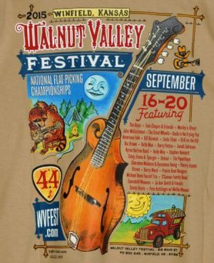 Official 2015 Walnut Valley Festival Worker T-Shirt