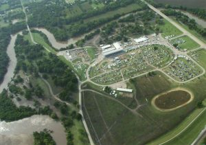 2016 Aerial Photograph of the Winfield Fairgrounds (Postcard Front)