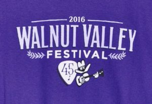 Official 2016 Walnut Valley Festival Worker T-Shirt