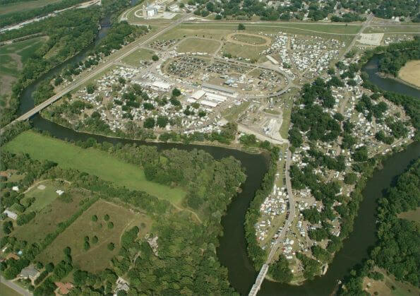 2017 Aerial Photography of the Winfield Fairgrounds (Postcard Front)