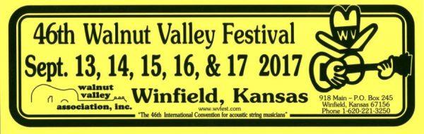 46th Walnut Valley Festival Bumper Sticker (2017)