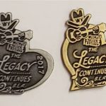 """2017 Hat Pin """"Walnut Valley Festival, The Legacy Continues, B.L.R, 2017"""""""