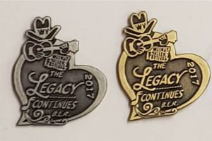"2017 Hat Pin ""Walnut Valley Festival, The Legacy Continues, B.L.R, 2017"""