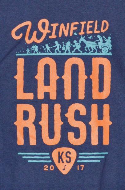 Winfield, KS LandRush, 2017 (T-Shirt Back)