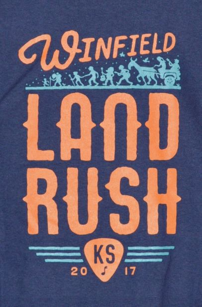 Winfield, KS LandRush, 2017 (T-Shirt Back)