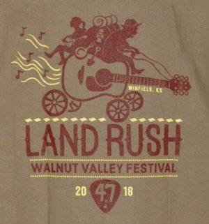 Official 2018 Walnut Valley Festival Landrush T-Shirt