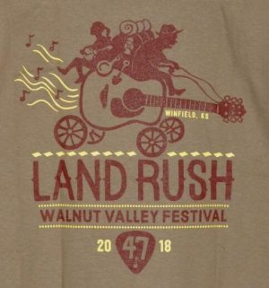 Official 2018 Walnut Valley Festival Landrush T-Shirt