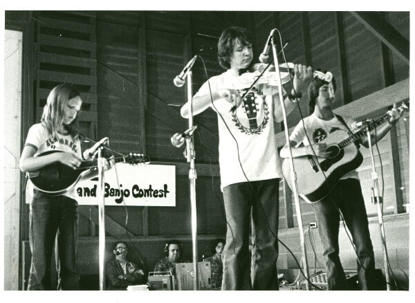 Mark O'Conner playing fiddle at the Walnut Valley Festival in 1975