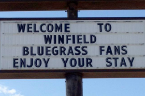Welcome To Winfield Bluegrass Fans, Enjoy Your Stay