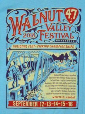 Official 2018 Walnut Valley Festival Worker T-Shirt