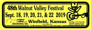 48th Walnut Valley Festival Bumper Sticker (2019)