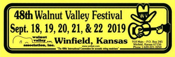 48th Walnut Valley Festival Bumper Sticker (2019)
