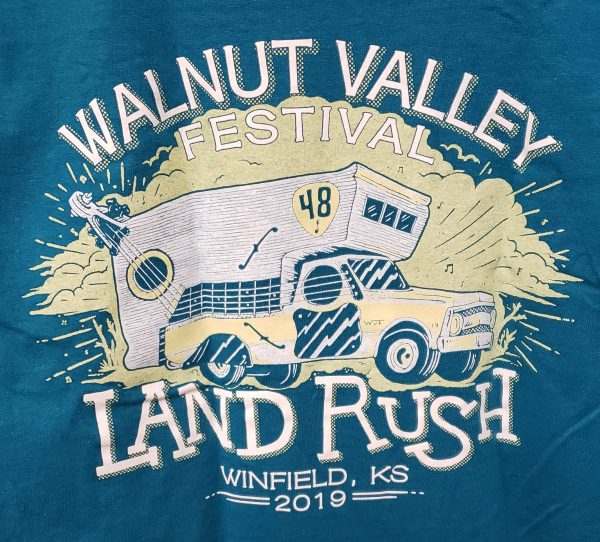 Official 2019 Walnut Valley Festival Landrush T-Shirt
