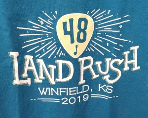 Official 2019 Walnut Valley Festival Landrush T-Shirt