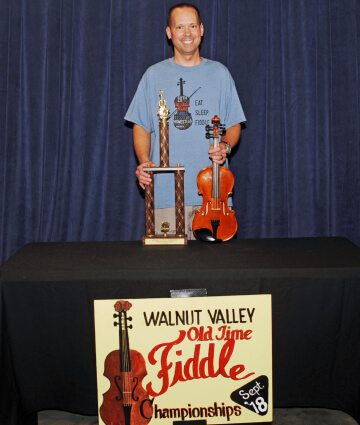1st Place Fiddle Winner, Jason Shaw (2018)