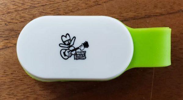 "LED Clip Light with Walnut Valley's ""Fesity"" logo (Closed)"