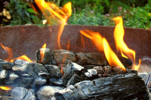 Campfires must be within a 3ft diameter metal fire ring.