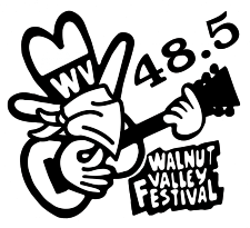 """""""Fesity"""" playing a guitar and wearing a face covering for the Walnut Valley Festival Festival 48.5"""