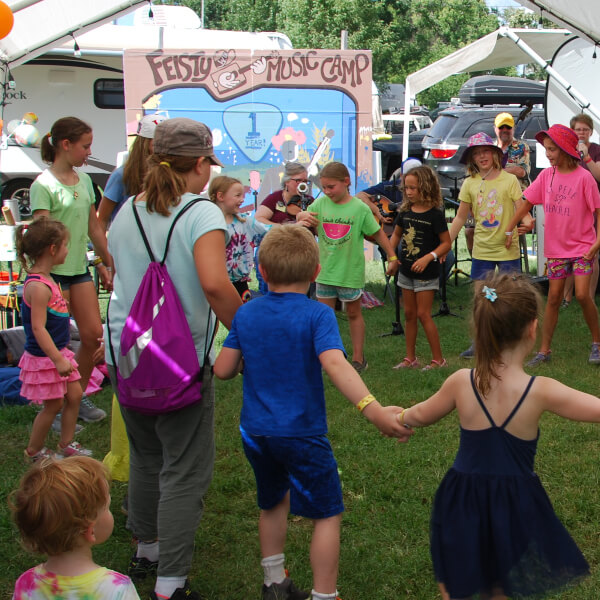 dancing during a music camp for kids