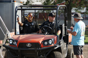 Winfield Police Department has officers onsite at the festival