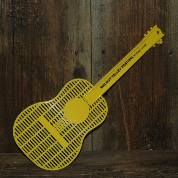 Yellow, Guitar-shaped flyswatter