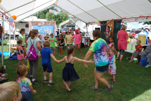 Kids dancing at Feisty's Kids Music Camp