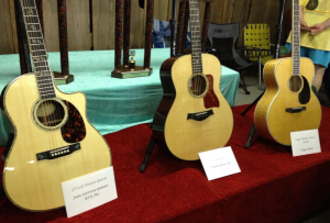 Prize Guitars at the Walnut Valley Festival