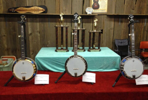 Prize Banjos at the Walnut Valley Festival