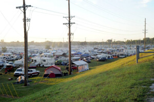 Tents and campers at the Walnut Valley Festival