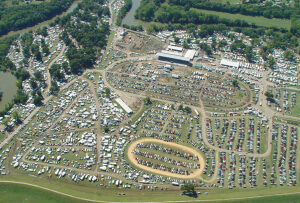 Aerial view of the Walnut Valley Festival