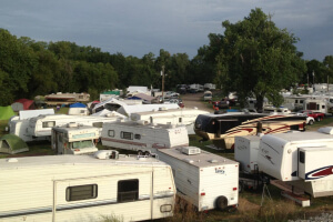 Campers at the Walnut Valley Festival