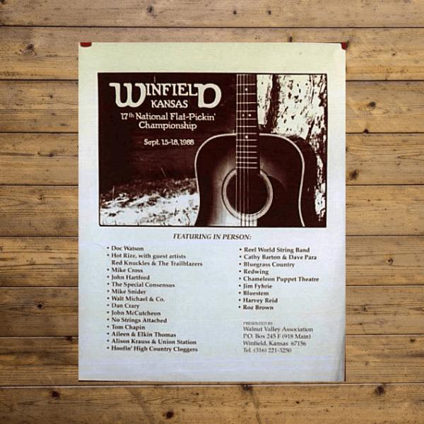 Walnut Valley Festival Poster - 1988